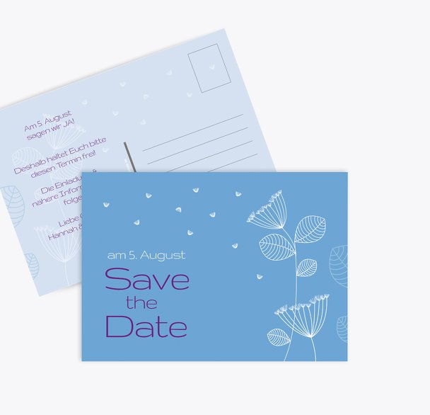 Save-the-Date Pusteblume