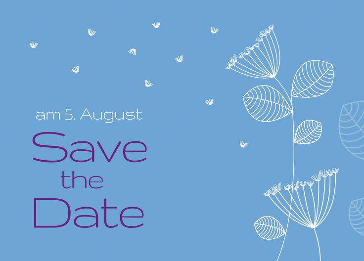 Ansicht 2 - Save-the-Date Pusteblume