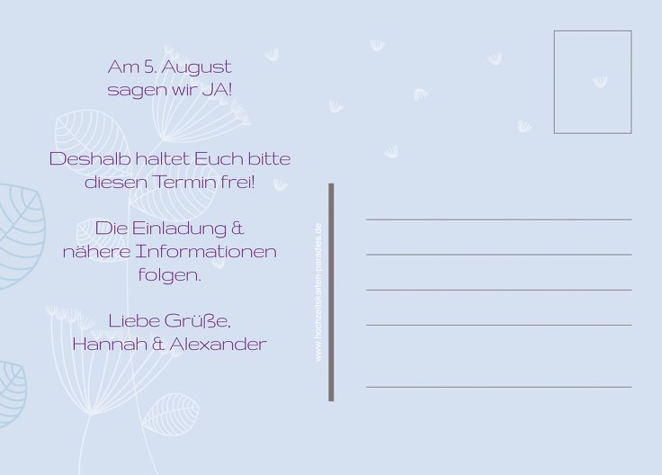 Ansicht 3 - Save-the-Date Pusteblume