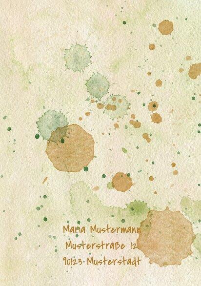 Ansicht 2 - Glückwunschkarten Einschulung Farbkleckse