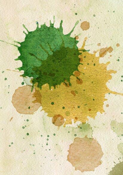 Ansicht 4 - Glückwunschkarten Einschulung Farbkleckse
