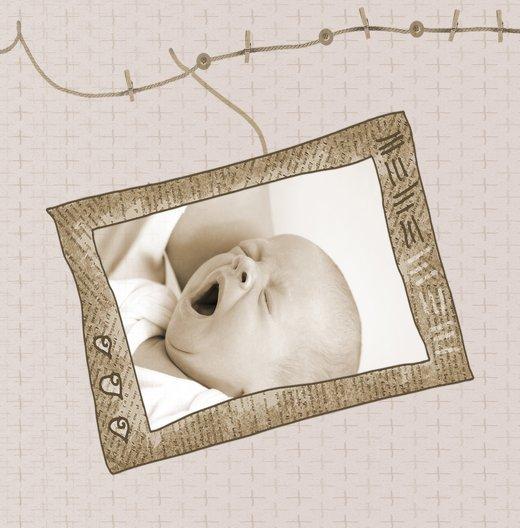 Ansicht 4 - Baby Dankeskarte Wäscheleine