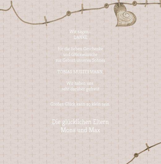 Ansicht 5 - Baby Dankeskarte Wäscheleine