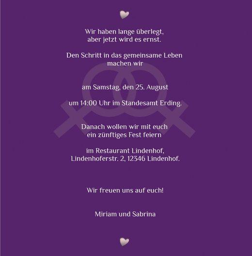 Ansicht 5 - Einladung Im Zeichen der Liebe - Frauen