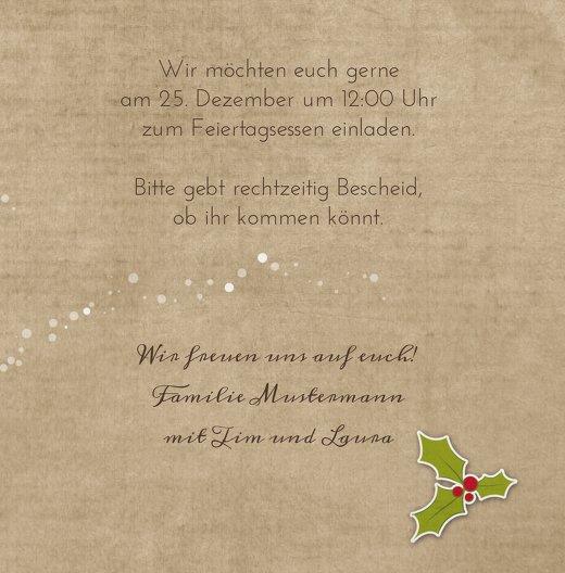 Ansicht 5 - Einladung Weihnachtskranz