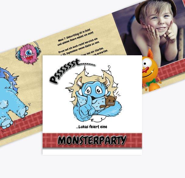 Geburtstagseinladung Monsterparty