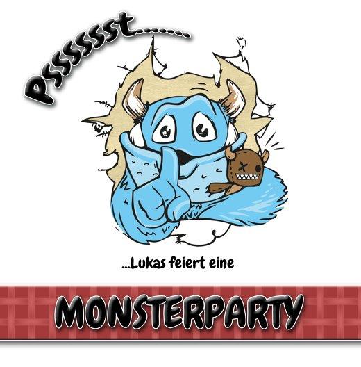 Ansicht 4 - Geburtstagseinladung Monsterparty
