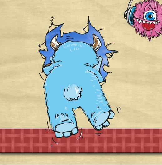 Ansicht 5 - Geburtstagseinladung Monsterparty