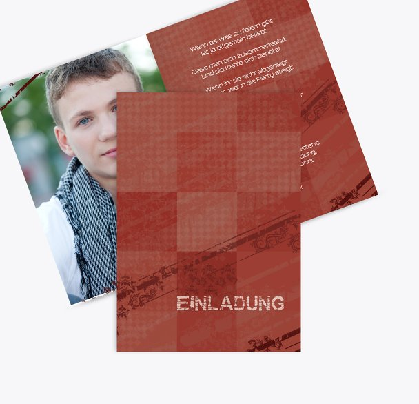 Einladungen farbige Würfel Foto