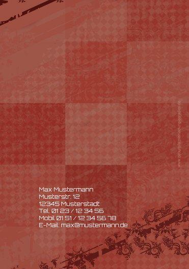 Ansicht 2 - Einladungen farbige Würfel Foto