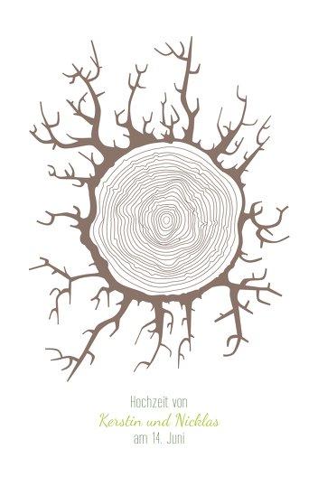 Ansicht 2 - Fingerabdruck Leinwand Baumstamm