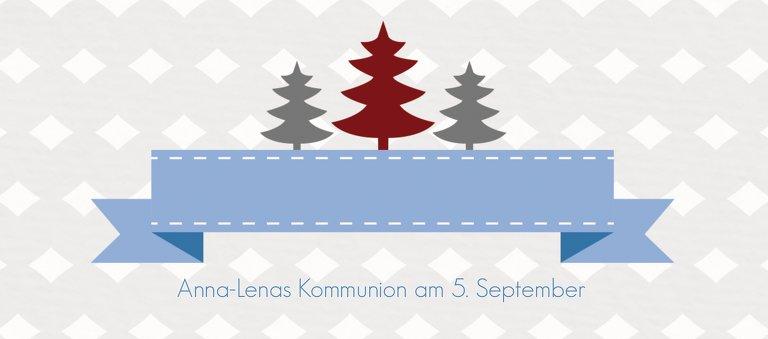 Ansicht 3 - Tischkarte Tannenbaum Banner