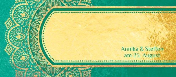 Ansicht 3 - Hochzeit Tischkarte Mumbai