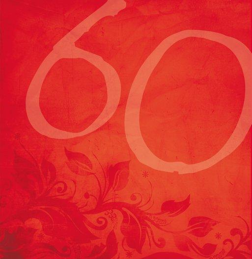 Ansicht 6 - Geburtstagskarte floral verspielt 60 Foto