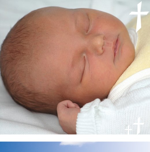 Ansicht 5 - Taufe Dankeskarte Himmelskreuz