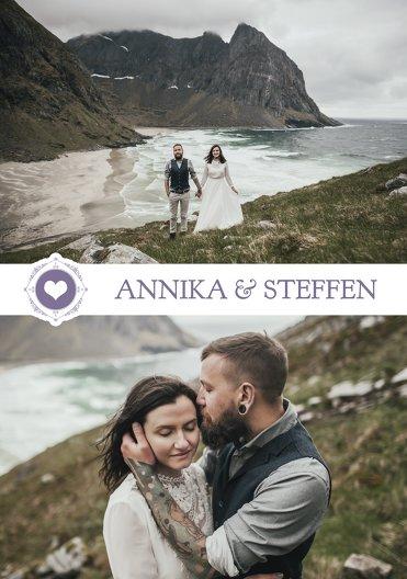 Ansicht 4 - Hochzeit Dankeskarte Hochzeitspass