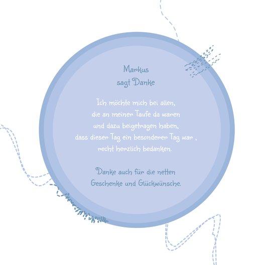 Ansicht 5 - Tauf Dankeskarte Stickmuster