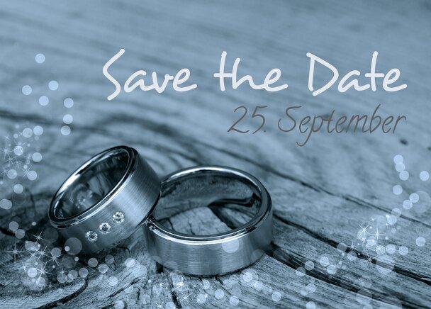 Ansicht 2 - Hochzeit Save the Date Eheringe