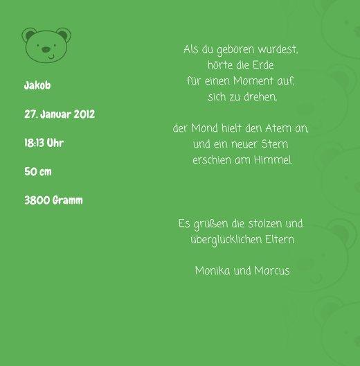 Ansicht 4 - Babykarte Bärchen