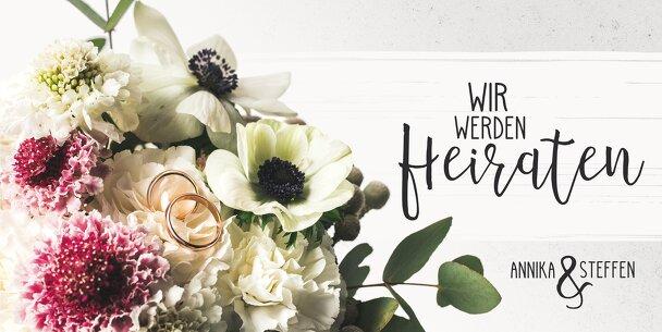 Ansicht 3 - Hochzeit Einladung Bouquet