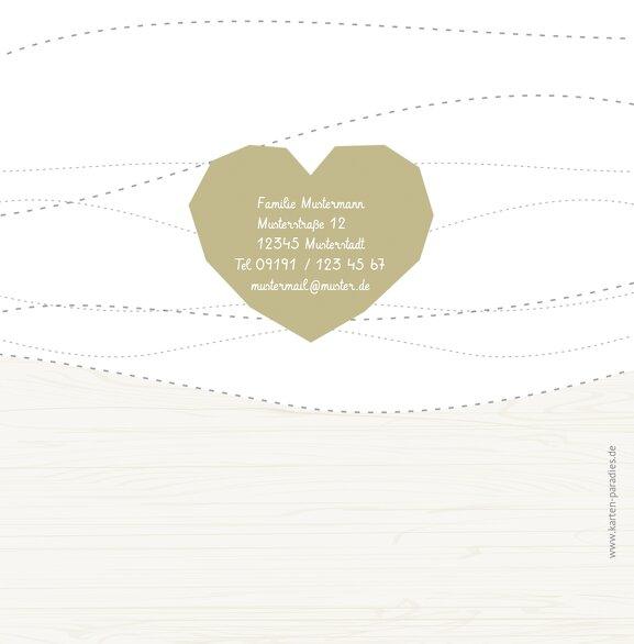 Ansicht 2 - Hochzeit Dankeskarte Sternenbild