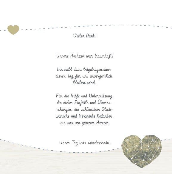 Ansicht 5 - Hochzeit Dankeskarte Sternenbild