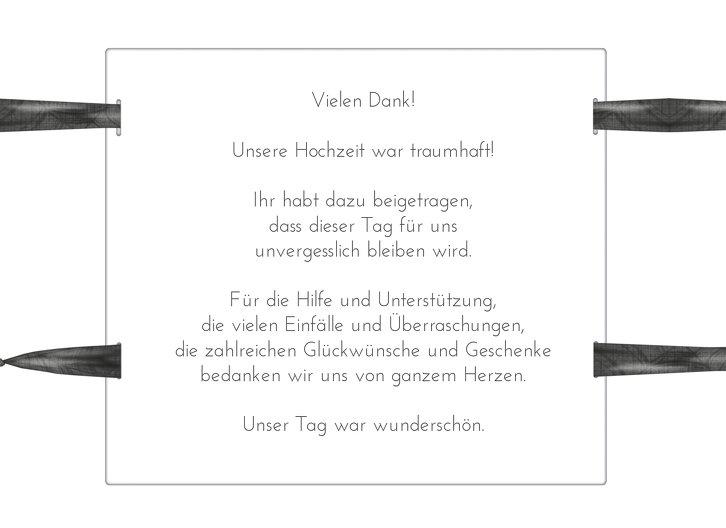 Ansicht 5 - Hochzeit Dankeskarte loop label