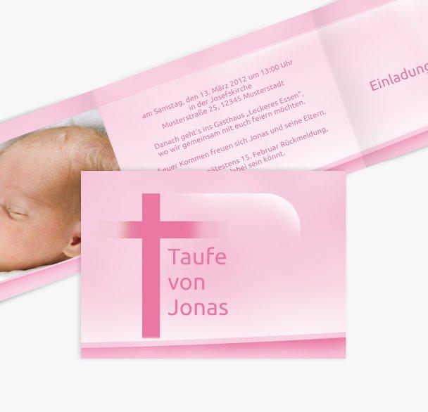 Taufkarte Kreuz