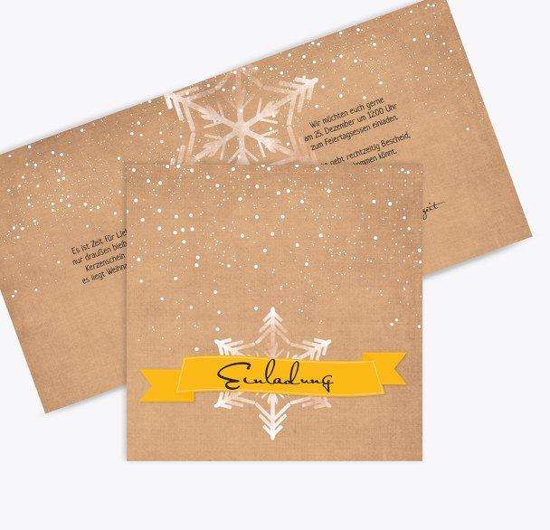 Einladung Schneestern