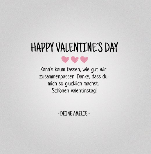 Ansicht 5 - Valentinskarte Valentinsgruß