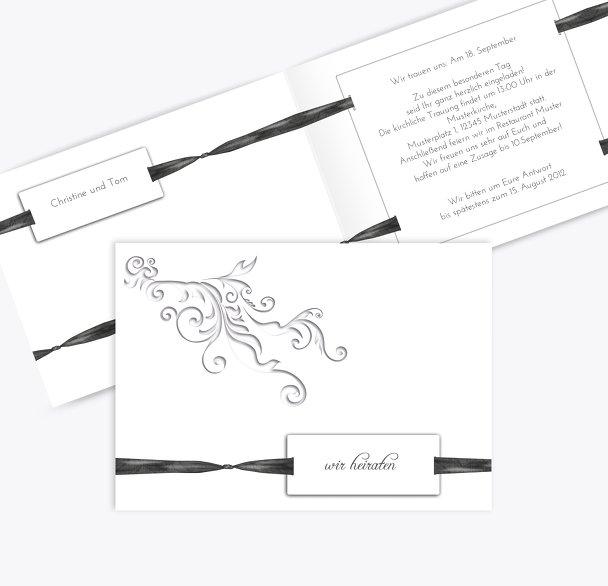 Hochzeit Einladung loop label