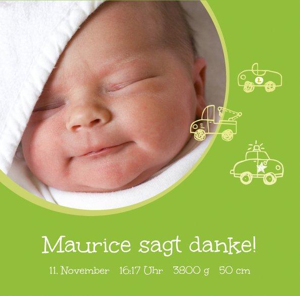 Ansicht 3 - Baby Dankeskarte Mobil