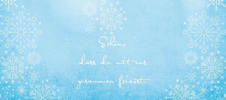 Ansicht 2 - Tischkarte Wintertraum