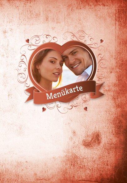 Ansicht 3 - Hochzeit Menükarte Herz