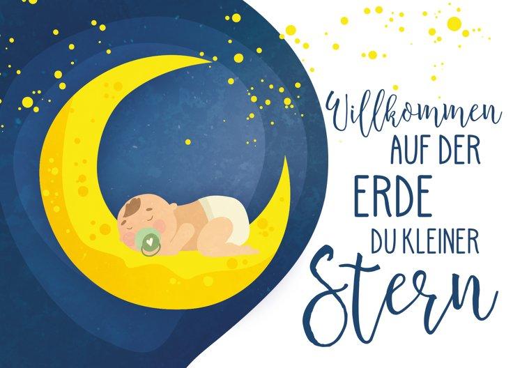 Ansicht 2 - Glückwunschkarte zur Geburt Stern