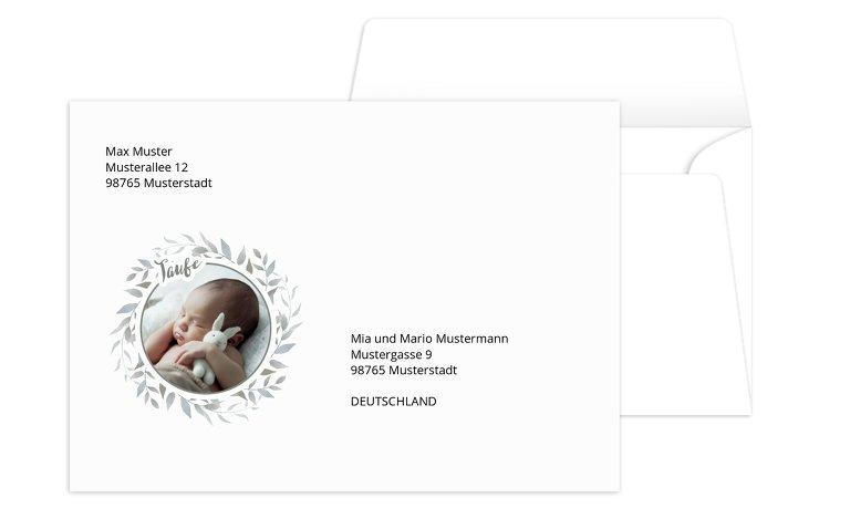 Taufe Umschlag Kranz