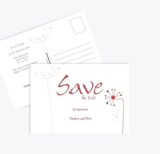 Save-the-Date abstrakte Blumen