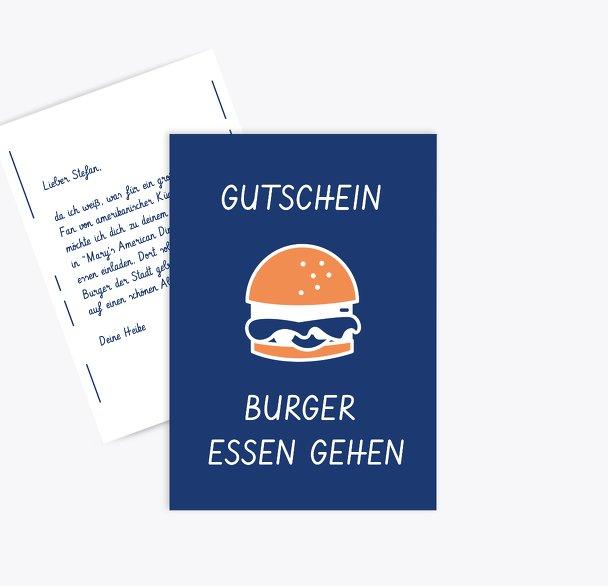 Gutschein zum Geburtstag Burger essen gehen