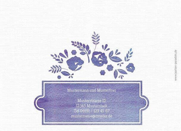 Ansicht 2 - Hochzeit Dankeskarte Vogelpaar