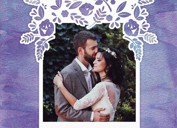 Ansicht 4 - Hochzeit Dankeskarte Vogelpaar
