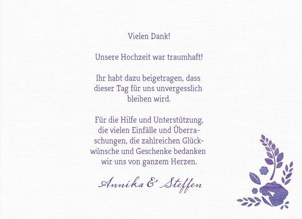 Ansicht 5 - Hochzeit Dankeskarte Vogelpaar
