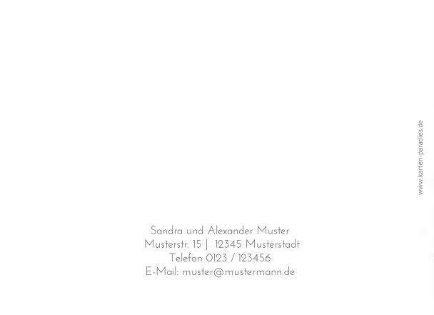 Ansicht 2 - Hochzeit Dankeskarte Eheringe