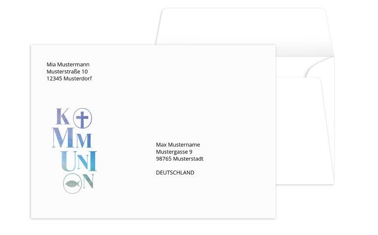 Kommunion Umschlag Himmelreich