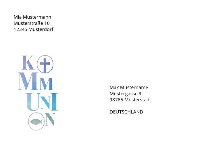 Ansicht 2 - Kommunion Umschlag Himmelreich