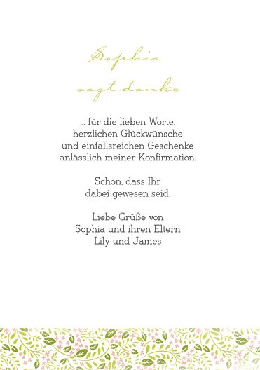 Ansicht 5 - Konfirmation Dankeskarte Blumenkreuz