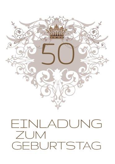 Ansicht 3 - Einladungskarte Krone 50