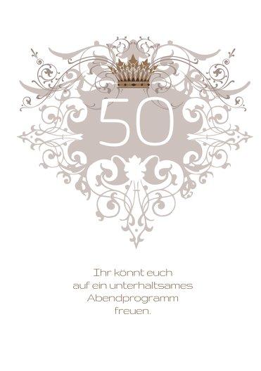 Ansicht 4 - Einladungskarte Krone 50
