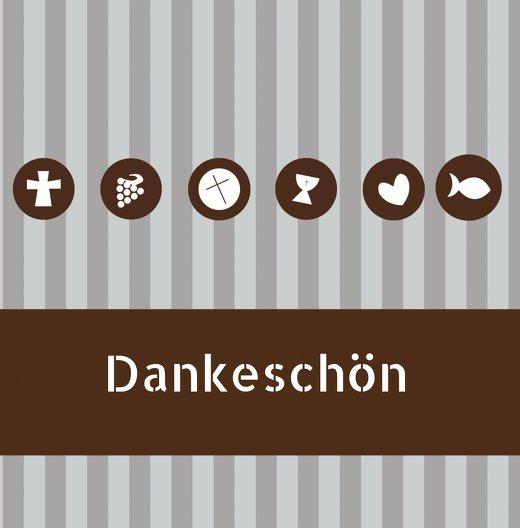 Ansicht 3 - Kommunion Danke stripes-buttons