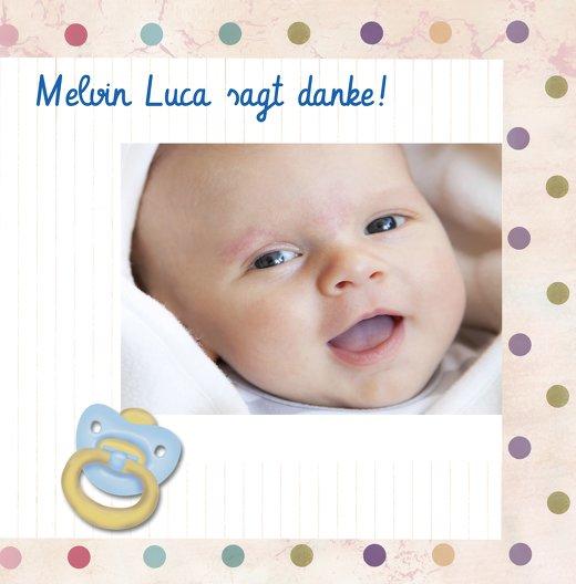 Ansicht 3 - Baby Dankeskarte Smarties