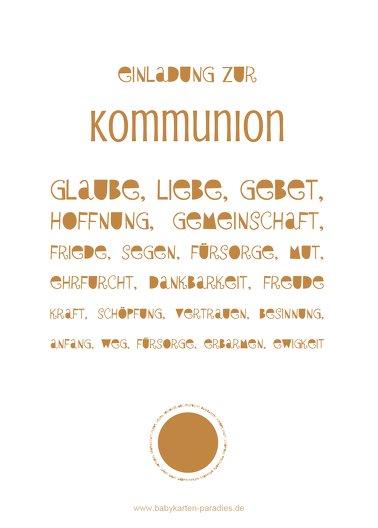 Ansicht 2 - Kommunionskarte Spruchkreis